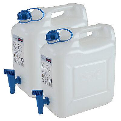 2x Wasserkanister ECO 12 Liter mit Hahn 2er Set Camping-Kanister Wassertank NEU