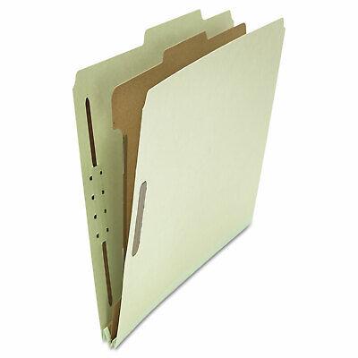 Universal Pressboard Classification Folder Letter Four-section Gray-green 10box