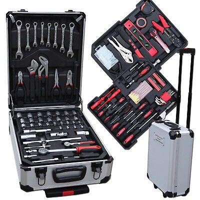 207 tlg Werkzeugkoffer Werkzeugkiste Werkzeugkasten Werkzeug Set mit Werkzeug