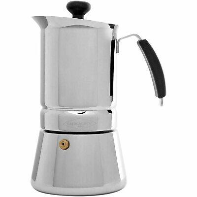 Cafetera Italiana Induccion 6 tazas acero inoxidable Oroley Arges