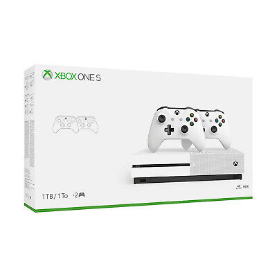 Xbox One S 1TB Console with 2 Controllers Bundle (Pre-owned and Tested Open Box