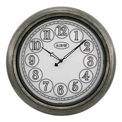 NEW - 403-3246 La Crosse Clock Co. 18 Indoor/Outdoor Wall Clock -METALLIC BROWN