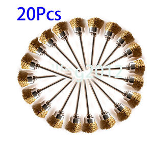 20x-16mm-Brass-Wire-Wheel-Brush-Compatible-With-Dremel-Die-Grinder-Rotary-Tool