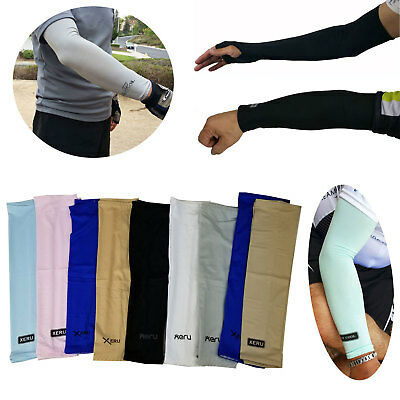 1 Pair Cooling Arm Sleeves Cover UV Sun Protection Outdoor Sports Unisex