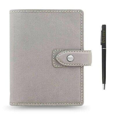 Filofax Malden Pocket Leather Organizer Bundle With Diloro Pen