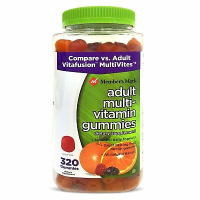 Adult Multi Vitamin - Member's Mark Adult Multi-Vitamin Gummies Gluten Free (320 ct.)Free shipping!!!
