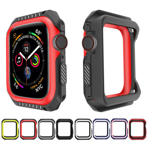Rugged Armor Shockproof Bumper Protector Case for Apple Watch Series 6 5 4 3 2