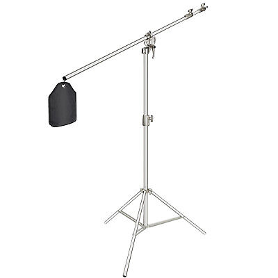"Neewer Photo Studio 2-in-1 Light Stand 48.4-151.5"" with 85"" Boom Arm and Sandbag"