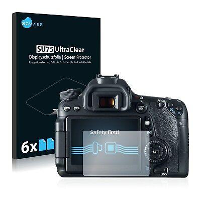 6x Displayschutzfolie für Canon EOS 70D Schutzfolie Klar Folie Displayfolie