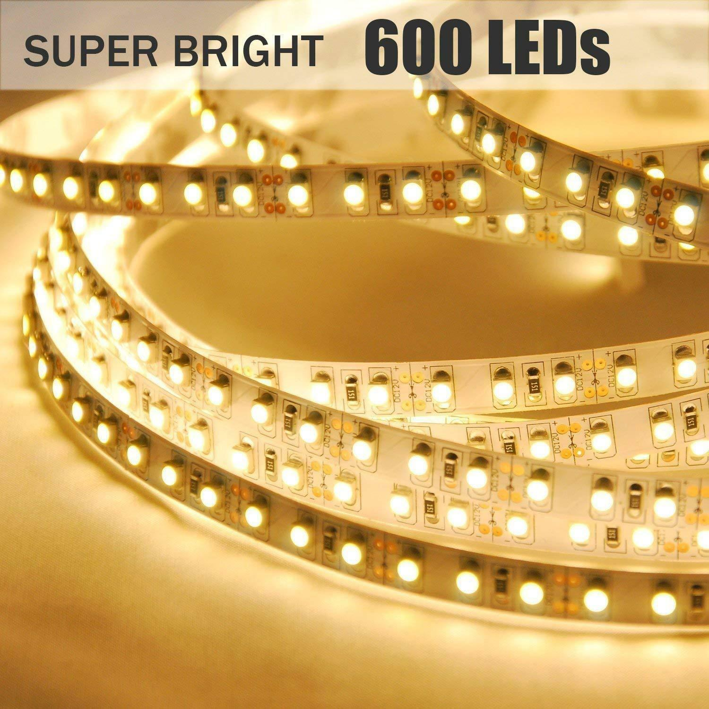 Ustellar 5M 600 LED SMD 2835 Dimmable Flexible Strip Light U