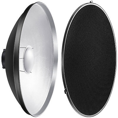 Neewer Strobe Flash Light Reflector Beauty Dish with Honeycomb Grid and Scrim
