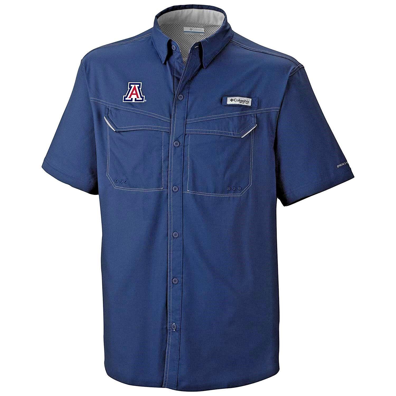 Columbia PFG Mens 2XL Short Sleeve Low Drag Button Shirt XXL AZ Wildcats  NCAA