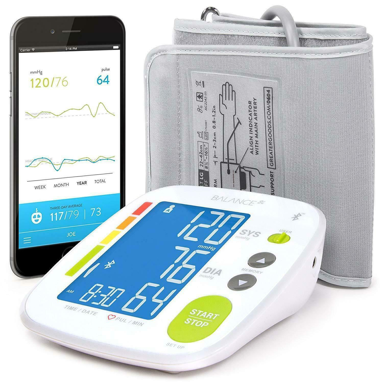 Balance Bluetooth Blood Pressure Monitor Cuff  BPM Easy To U