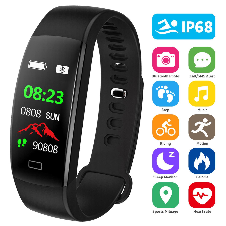 Fitness Armband Uhr Smartwatch mit Pulsmesser ...