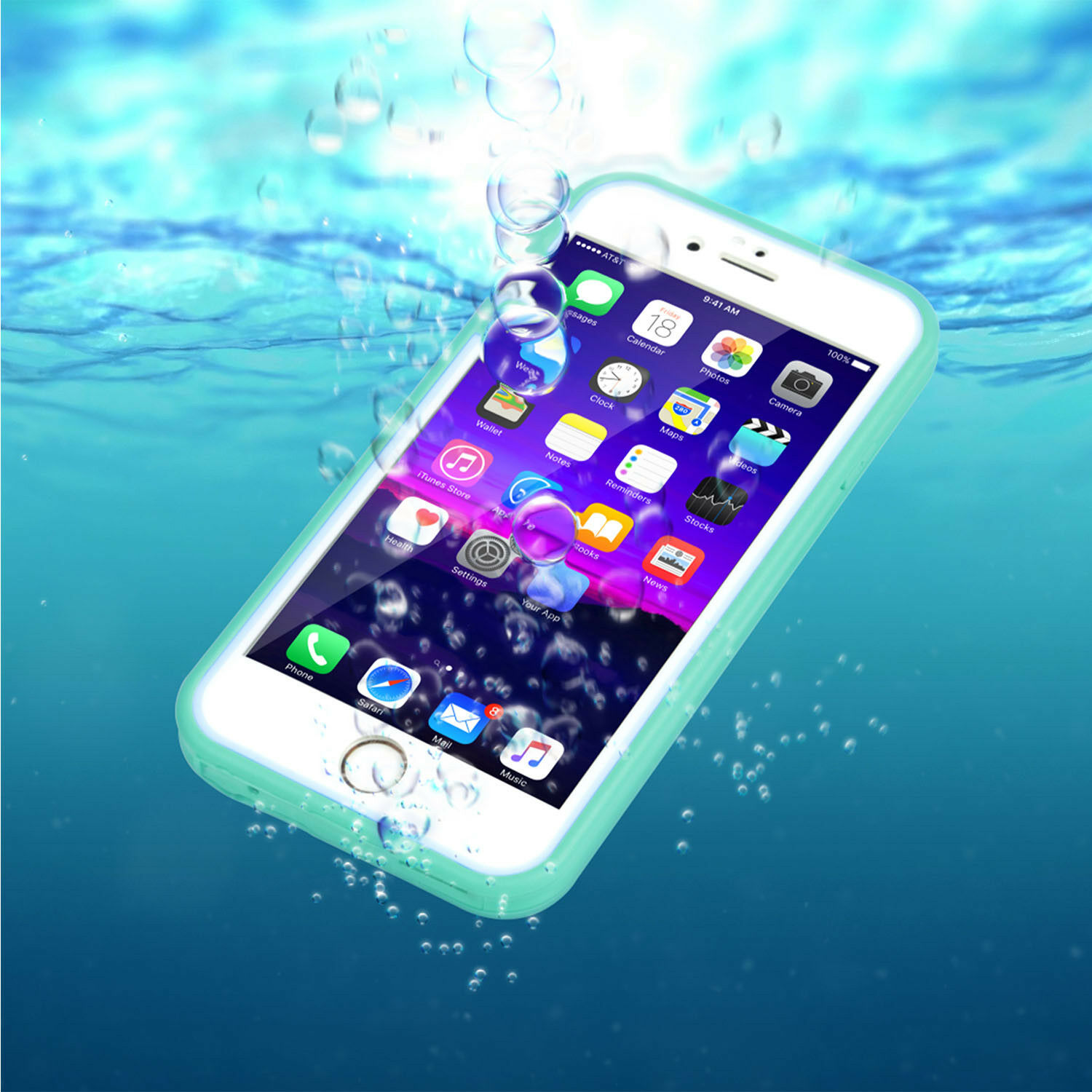 Waterproof Shockproof Hybrid Rubber TPU Phone Case Cover For iPhone 6 6s Plus