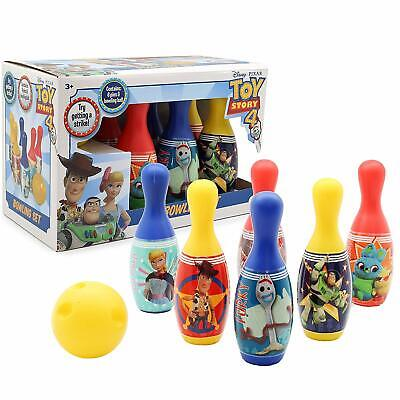 Disney Toy Story 4 Forky Bowling Set Toys For Children Includes 6 Pins &Ball