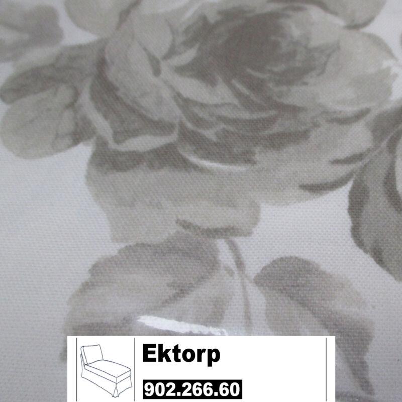 IKEA Ektorp Bezug für Freistehende Recamiere in Norlida weiß/beige 902.266.60