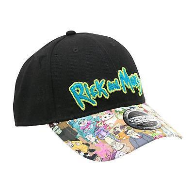 Rick and Morty Baseball Cap bunter Schirm, Mütze Fan Fashion Unisex verstellbar