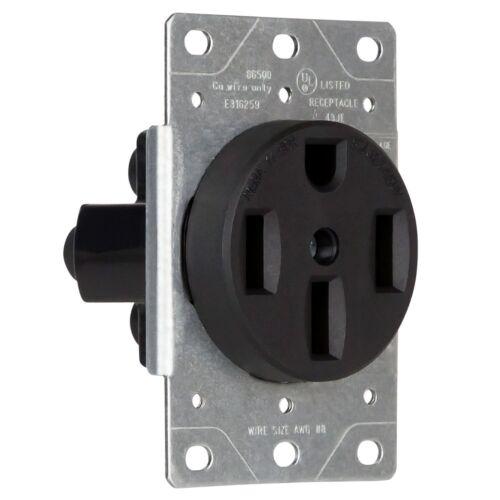 Enerlites 50 Amp Flush Mount Dryer Receptacle Power Outlet 50A 250v Female Plug