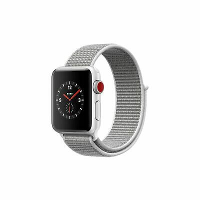 Apple Watch Series 3 GPS Cellular 38mm Silvery Aluminum Case Seashell Rollick Loop