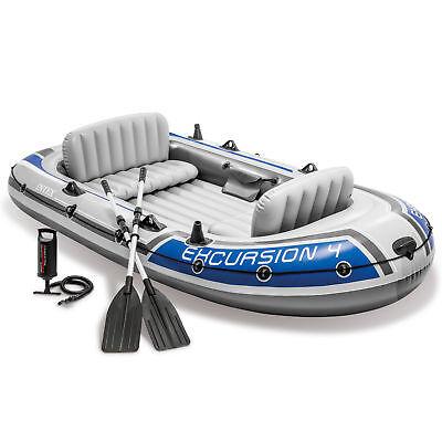 Intex 68324 Schlauchboot Excursion 4 Ruderboot Angelboot + Pumpe Paddel