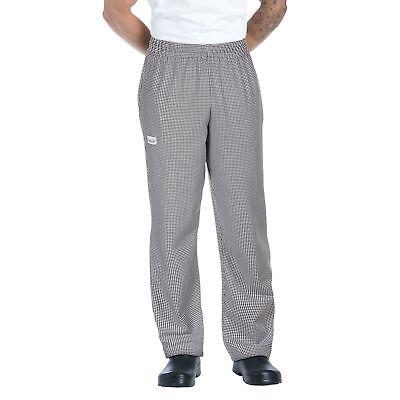 New Men Contemporary Blackwhite Check Baggy Chef Pants Size Xs-6xl