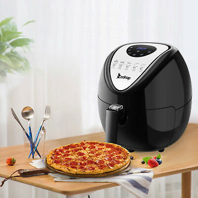 6.8QT Large Capacity Air Fryer W/ LCD Screen and Non-Stick Coating 1800W