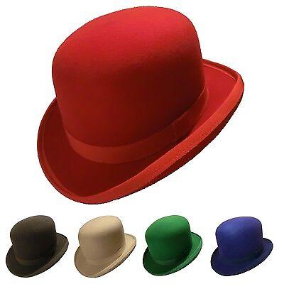 Melone, Bowler, Hut individuell, in rot, grün, blau, weiss, schwarz
