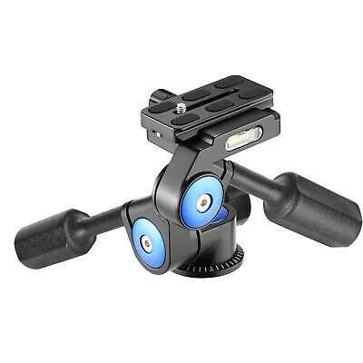 Neewer Camera Video 3-way Tripod Head Handle Ball Head 360 Degree Rotation