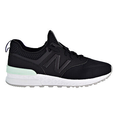 New Balance 574 Sport Men's Running Shoes Black-Black-White MS574-TMB