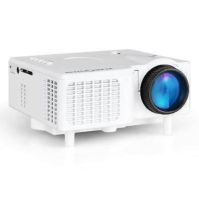 LED MINIBEAMER PROJEKTOR AV VGA MOBIL 12V 320 x 240 16:9 4:3 AUDIO VIDEO BILD