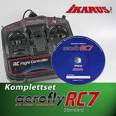 ikarus Flugsimulator AeroFlyRC7 Aero Fly RC 7 - Standart - DVD mit USB-Commander