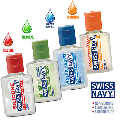 Swiss Navy Mini Lubricant Samplers Natural Warming Silicone Enhance Sex Lube USA ()