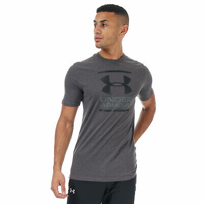 Mens Under Armour Gl Foundation Ss T-Shirt In Grey Foundation Fitted T-shirt