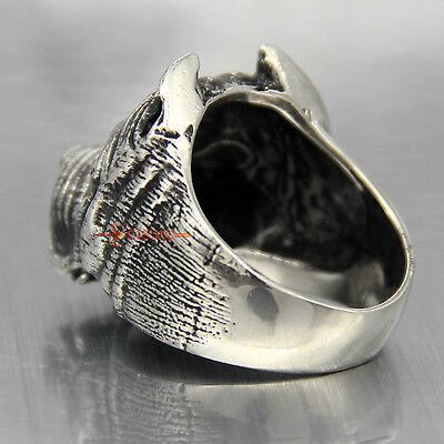 Mode Herren Junge Pitbull Hund Silber 316L Edelstahl Ring Schmuck Neu (Pitbull Schmuck)