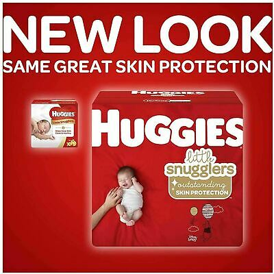 HUGGIES Little Snugglers Baby Diapers 40639 Newborn 0-10 LB ( Pack of 216 )