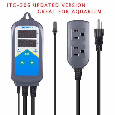 Inkbird Itc-306t Temperature Controller Heater Heating Waterptoof Aquarium Probe