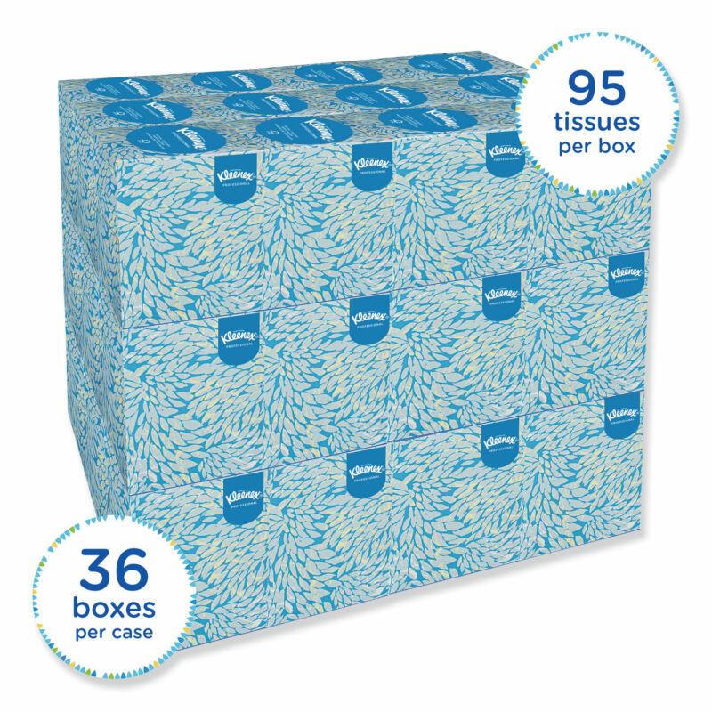 Kleenex White Facial Tissue 2-Ply Pop-Up Box 36/Carton 21271CT