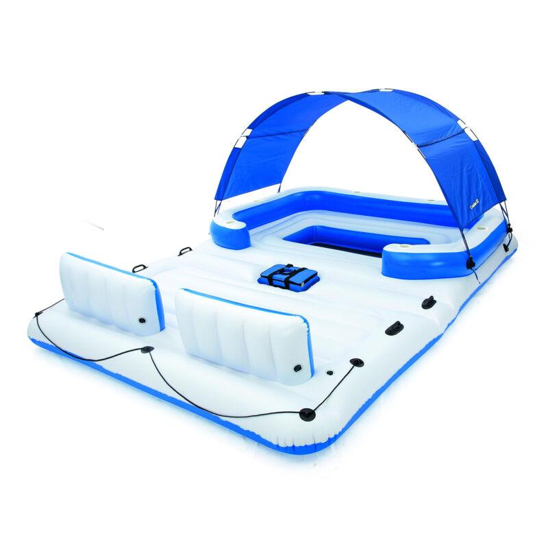 Bestway CoolerZ Tropical Breeze 6 Person Floating Island Pool Lake Raft Lounge
