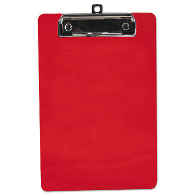 Saunders Plastic Clipboard 12 Capacity 6 X 9 Sheets Red 00518