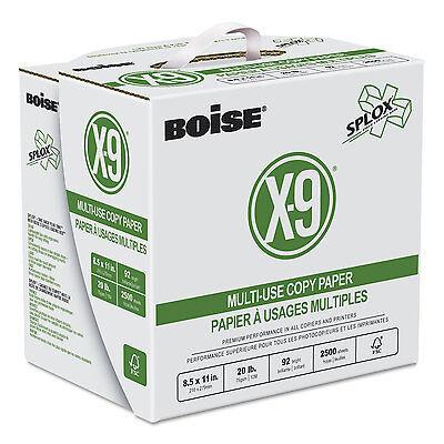 Boise X-9 SPLOX Multi-Use Copy Paper 92 Bright 20lb 8-1/2x11 White 2500/Ctn