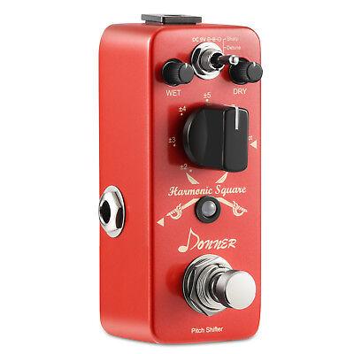 Donner Digital Octave Guitar Effect Pedal Harmonic Square 7 modes DC 9V Pedal