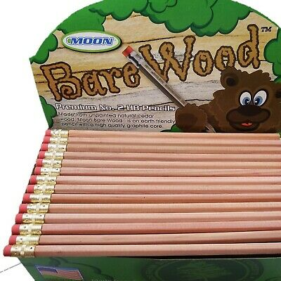 Bare Wood Pencils, Premium #2 HB (144 pencils)