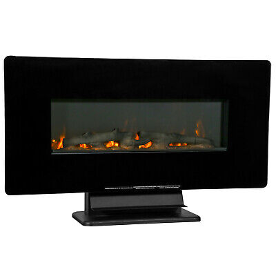 36″ Electric Fireplace Free Standing Wall Mounted Fireplace Heater 750 W / 1500 Fireplaces