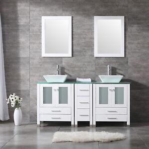 Bathroom Double Sink Vanities | Double Vessel Sink Vanity Ebay