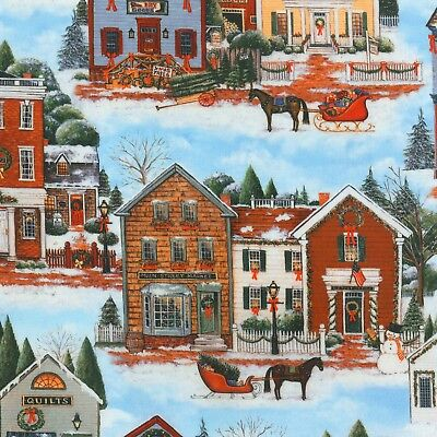 Country Christmas in the Village Kaufman Quilt Fabric by the 1/2yd ](The Village Costume)