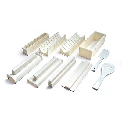 Sushi Maker Kit - Easy to Use 10 Piece Sushi Roll Maker Rice Fork and Spatula ()