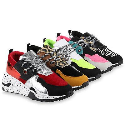 Damen Sneaker Wedges Keilabsatz Bunte Keilsneaker Prints 831356 Schuhe