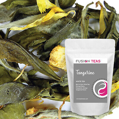 Tangerine White Tea (Bai Mu Dan) - Loose Leaf Blend - Fusion Teas Loose White Tea