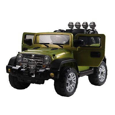 HOMCOM Macchinina Elettrica per Bambini Modello Jeep